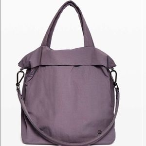 NWT On My Level Tote Large Graphite Purple